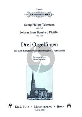 Drei Orgelfugen aus dem Repertoire der Hamburger St. Petri-Kirche Orgel (Ped.) (Erstdruck)