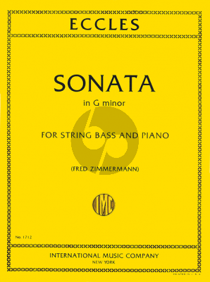 Eccles Sonate g-minor Double Bass-Piano (Fred Zimmermann
