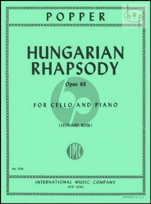 Popper Hungarian Rhapsody Op.68 Cello-Piano (Leonard Rose)