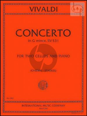 Concerto g-minor RV 531 (F.III n.2) 2 Cellos and Piano