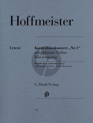 Hoffmeister Konzert No.1 (mit obl. Violine) (D-dur und C-dur version) (Glocler/Sobanski) (Henle-Urtext)