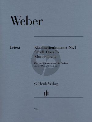 Weber Konzert No.1 f-moll Op.73 Klarinette-Klavier (Henle)