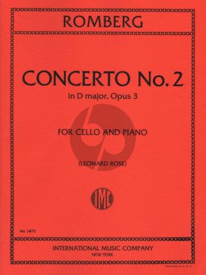 Romberg Concerto No.2 D-major Op.3 Cello and Piano (Leonard Rose)