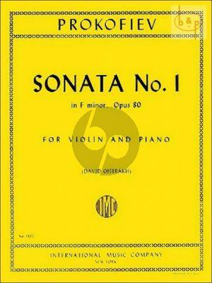 Prokofieff Sonata No.1 f-minor Op.80 Violin-Piano (Oistrakh)