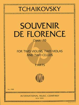 Tchaikovsky Souvenir de Florence Op.70 (2 Vi-2 Va-2 Vc) (Parts)