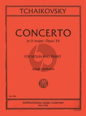 Tchaikovsky Concerto D-major Op.35 for Violin and Piano (David Oistrakh)