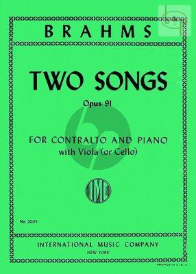 2 Songs Op. 91 Contralto-Viola [Violonc.]-Piano