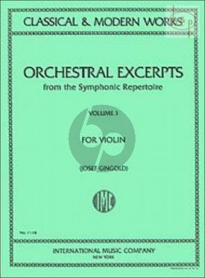 Orchestral Excerpts from the Symphonic repertoire Vol.1 Violin