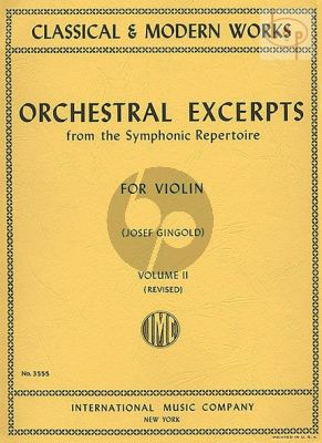 Orchestral Excerpts Vol.2 Violin