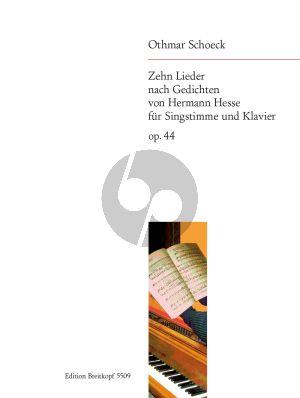 Schoeck 10 Lieder Op.44 (nach Gedichten von H.Hesse) (Mittel)