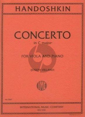 Handoschkin Concerto C-major Viola-Piano (Joseph Vieland)