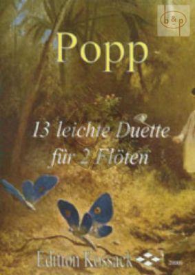 Popp 13 Leichte Duette 2 Flutes (Widdermann) (grade 2-3)