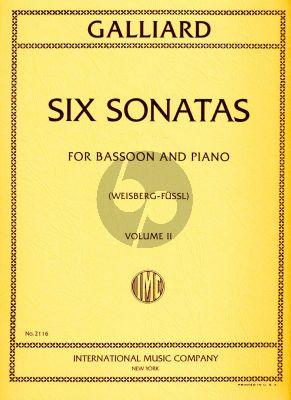 Galliard 6 Sonatas Vol.2 Bassoon-Pino (Fussl-Weisberg)