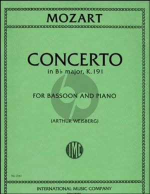Mozart Concerto B-flat major KV 191Bassoon-Piano (Arthur Weisberg)