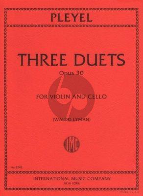 Pleyel 3 Duets Op.30 B.529-531 Violin-Violoncello (Lyman)