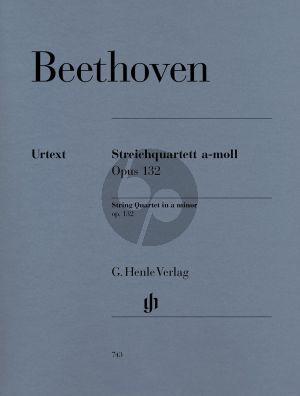 Beethoven Streichquartett a-moll Op.132 (Stimmen) (edited by Emil Platen) (Henle-Urtext)