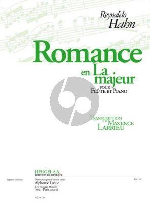 Hahn Romance La-majeur Flute et Piano (Larrieu)