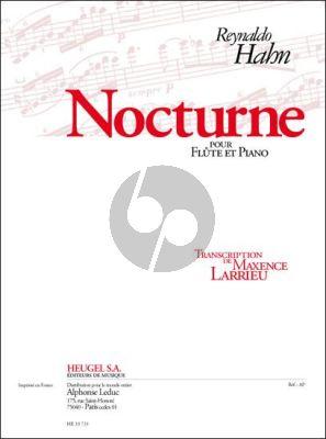 Hahn Nocturne Flute et Piano (transcr. Maxence Larrieu)