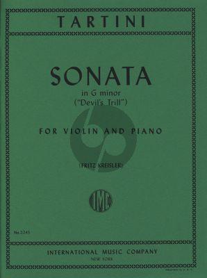 Tartini Sonata G Minor (Devil's Trill) Violin and Piano (edited by Fritz Kreisler)