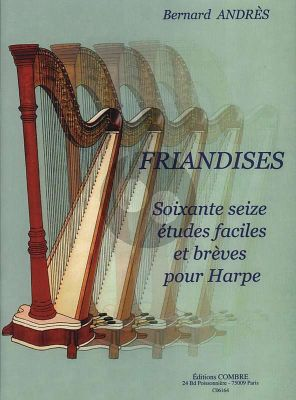 Andres Friandises pour Harpe (66 Etudes Faciles & Breves) (easy to interm.level) (pedal or lever harp)