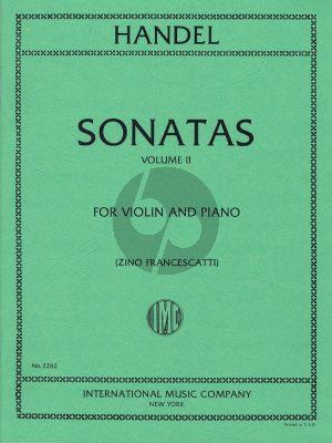 Handel 6 Sonatas Vol. 2 (No. 4 - 6) Violin and Piano (Zino Francescatti)