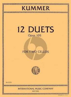 Kummer 12 Duets Op.105 2 Cellos (edited by Waldo Lyman)