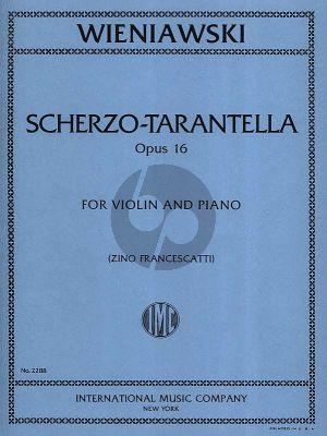 Wieniawsky Scherzo Tarantella Opus16 Violin and Piano (Zino Francescatti)