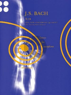 Bach Air BWV 1068 4 Saxophones (SATB) (Score/Parts) (transcr. by Friedmann Graef)