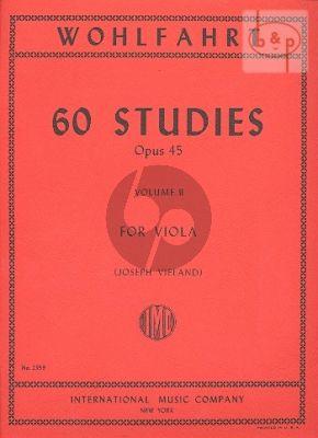 Wohlfahrt 60 Studies Op.45 Vol.2 (No.31 - 60) Viola (Joseph Vieland)