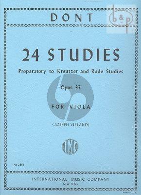 Dont 24 Studies Op.37 (preparatory to Kreutzer and Rode) Viola (Joseph Vieland)