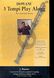 Baston Concerto No.2 C-dur Descant Recorder (Solo Part-CD)