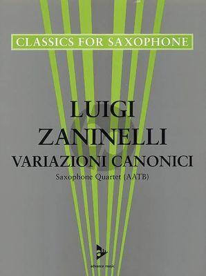 Zaninelli Variazioni Canonici 4 Saxophones (AATB) (Score/Parts) (Grade 4 +)