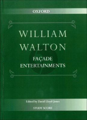 Walton Facade Entertainments for Chamber Ensemble Study Score (edited by David Lloyd-Jones)