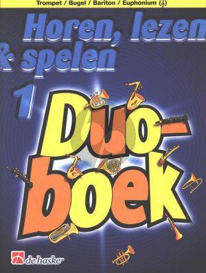Horen, Lezen & Spelen Vol.1 Duoboek Trompet (Bugel/Bariton/Euphonium G-Sleutel)