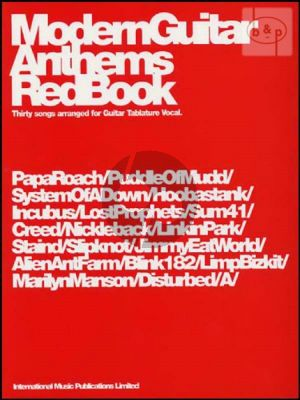 Modern Guitar Anthems Red Book (30 Songs)