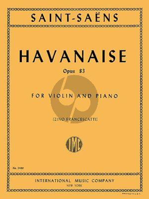 Saint-Saens Havanaise E-major Op.83 Violin-Piano (Zino Francescatti)