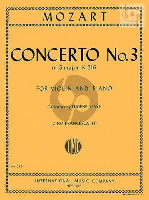 Concerto No.3 G-major KV 216