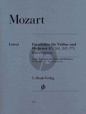 Mozart Einzelsatze KV 261-269(261a)-373 Violine-Klavier (Seiffert/Petrenz/Guntner (Henle-Urtext)