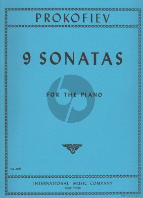 Prokofieff 9 Sonatas Piano (authentic edition)