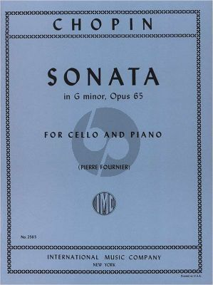 Sonata G-minor Op.65
