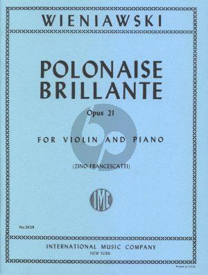 Wieniawski Polonaise Brillante A-major Op.21 Violin and Piano (Zino Francescatti)