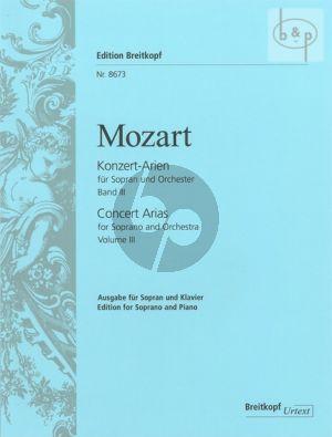 Konzert Arien Vol.3 ((KV 418 bis zum KV 583) (Sopran-Orch.)