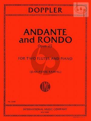 Andante & Rondo Op.25 2 Flutes and Piano