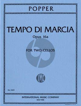 Popper Tempo di Marcia Op.16A 2 Violoncellos