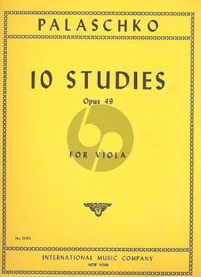 Palaschko 10 Studies Op.49 Viola