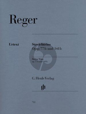 Reger 2 Streichtrios Op.77B a-moll und Op. 141B d-moll Violine-Viola und Violoncello (Stimmen) (Michael Kube)