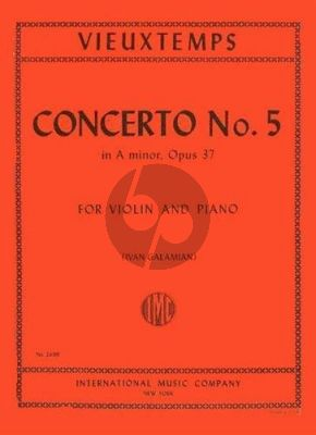 Vieuxtemps Concerto No.5 A-minor Op.37 Violin-Piano (Ivan Galamian)