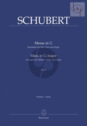 Messe G-dur D.167 (Soli-Chor-Orgel)