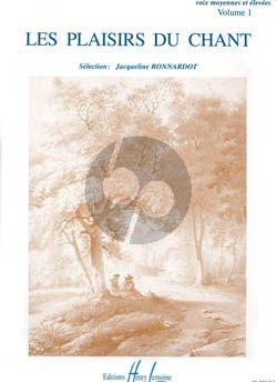 Album Plaisirs du Chant Vol.1 Voix Moyenne et Elevee