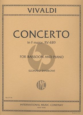 Vivaldi Concerto F-major RV 489 (F.VIII n.20) Bassoon-Piano (Sharrow)